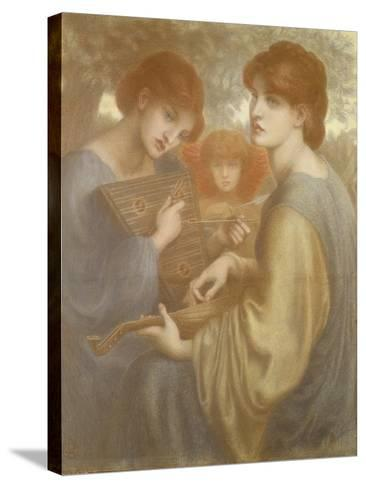 No. 1011 Study for 'The Bower Meadow', C.1872-Dante Gabriel Rossetti-Stretched Canvas Print