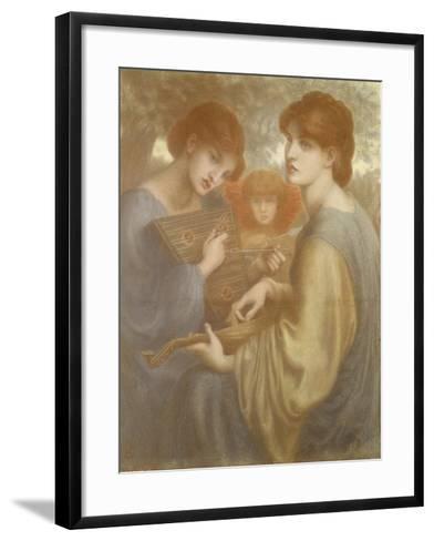 No. 1011 Study for 'The Bower Meadow', C.1872-Dante Gabriel Rossetti-Framed Art Print