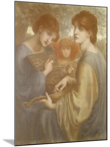 No. 1011 Study for 'The Bower Meadow', C.1872-Dante Gabriel Rossetti-Mounted Giclee Print