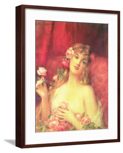 Woman with a Rose-Leon Francois Comerre-Framed Art Print