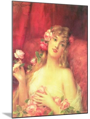 Woman with a Rose-Leon Francois Comerre-Mounted Giclee Print