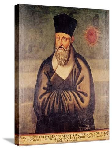 Portrait of Matteo Ricci (1552-1610) Italian Missionary, Founder of the Jesuit Mission in China--Stretched Canvas Print