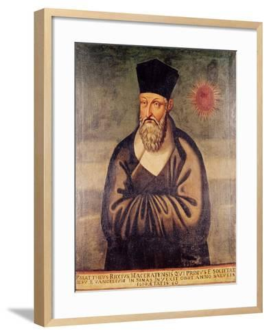 Portrait of Matteo Ricci (1552-1610) Italian Missionary, Founder of the Jesuit Mission in China--Framed Art Print