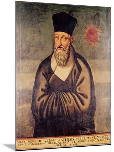 Portrait of Matteo Ricci (1552-1610) Italian Missionary, Founder of the Jesuit Mission in China--Mounted Giclee Print