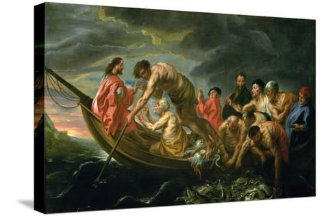 The Miraculous Draught of Fishes, C.1640-Jacob Jordaens-Stretched Canvas Print