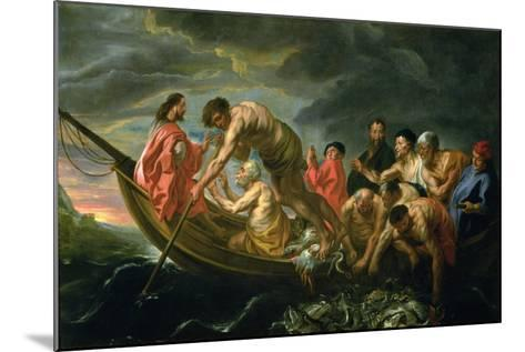 The Miraculous Draught of Fishes, C.1640-Jacob Jordaens-Mounted Giclee Print