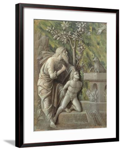 Abraham Sacrificing Isaac, C.1490-95-Andrea Mantegna-Framed Art Print