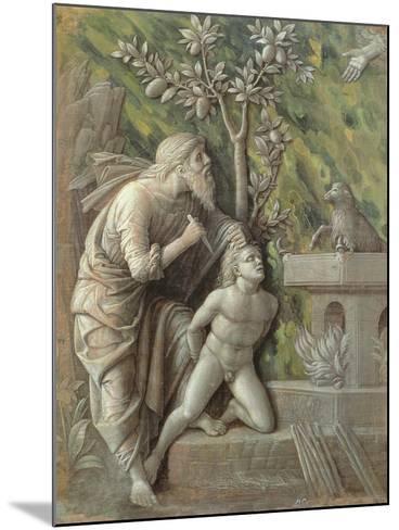 Abraham Sacrificing Isaac, C.1490-95-Andrea Mantegna-Mounted Giclee Print