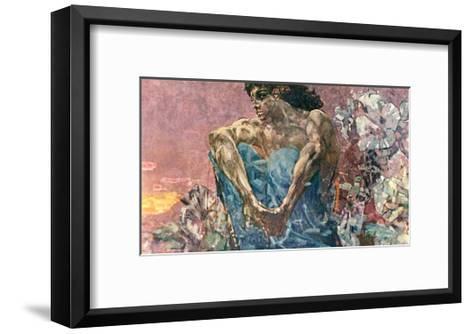 Seated Demon, 1890-Mikhail Aleksandrovich Vrubel-Framed Art Print