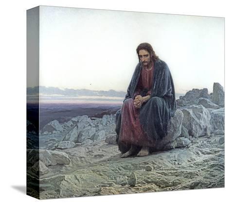 Christ in the Wilderness, 1873-Ivan Nikolaevich Kramskoy-Stretched Canvas Print