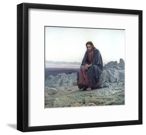 Christ in the Wilderness, 1873-Ivan Nikolaevich Kramskoy-Framed Art Print