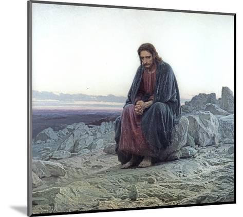 Christ in the Wilderness, 1873-Ivan Nikolaevich Kramskoy-Mounted Giclee Print