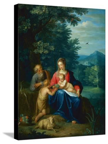 The Holy Family with the Infant St. John the Baptist-Pieter van Avont-Stretched Canvas Print