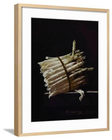 Bunch of Asparagus, 1703-Adrian Coorte-Framed Art Print