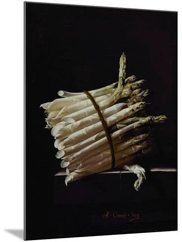 Bunch of Asparagus, 1703-Adrian Coorte-Mounted Giclee Print