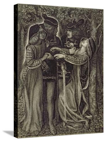 How They Met Themselves, C.1850/60-Dante Gabriel Rossetti-Stretched Canvas Print