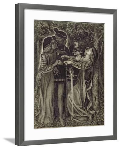 How They Met Themselves, C.1850/60-Dante Gabriel Rossetti-Framed Art Print