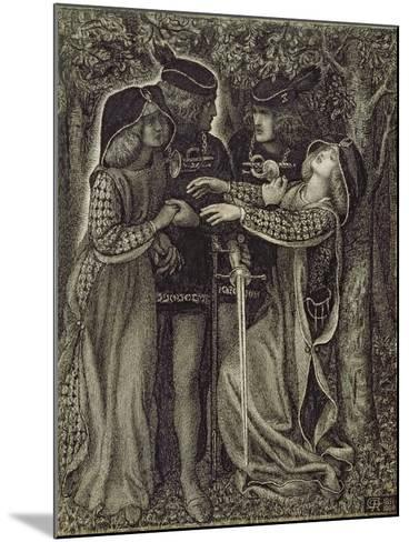 How They Met Themselves, C.1850/60-Dante Gabriel Rossetti-Mounted Giclee Print