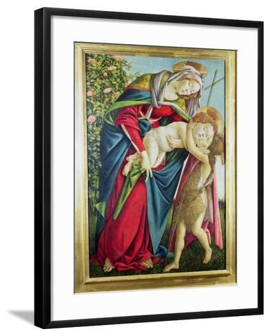 Madonna and Child with St. John the Baptist-Sandro Botticelli-Framed Art Print