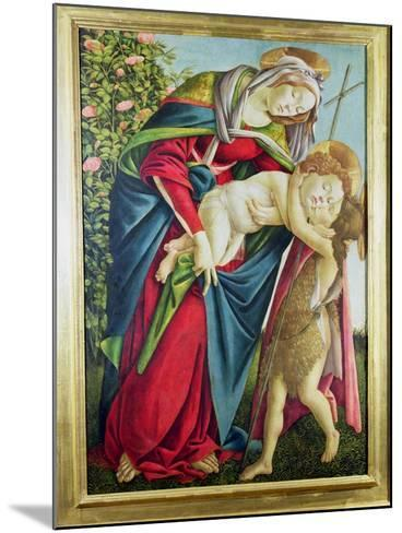 Madonna and Child with St. John the Baptist-Sandro Botticelli-Mounted Giclee Print