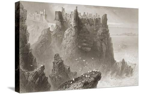 Dunluce Castle, County Antrim, Northern Ireland, from 'scenery and Antiquities of Ireland' by…-William Henry Bartlett-Stretched Canvas Print