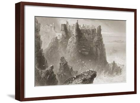 Dunluce Castle, County Antrim, Northern Ireland, from 'scenery and Antiquities of Ireland' by…-William Henry Bartlett-Framed Art Print
