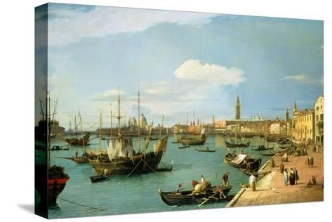 The Riva Degli Schiavoni, Looking West-Canaletto-Stretched Canvas Print