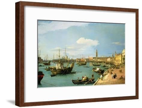 The Riva Degli Schiavoni, Looking West-Canaletto-Framed Art Print