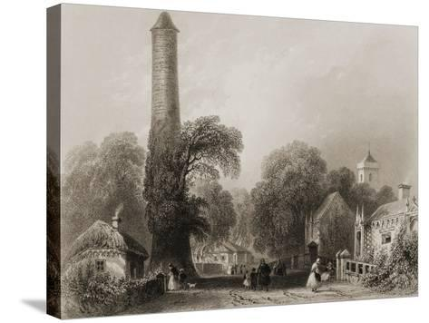 Clondalkin, County Dublin, Ireland, from 'scenery and Antiquities of Ireland' by George Virtue,…-William Henry Bartlett-Stretched Canvas Print