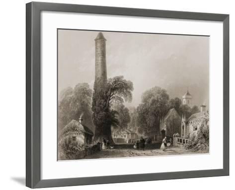 Clondalkin, County Dublin, Ireland, from 'scenery and Antiquities of Ireland' by George Virtue,…-William Henry Bartlett-Framed Art Print