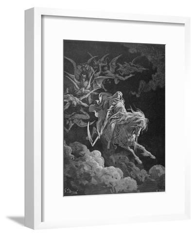 The Vision of Death, Engraved by Heliodore Joseph Pisan (1822-90) C.1868-Gustave Dor?-Framed Art Print