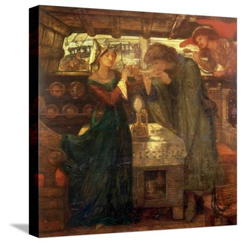 Tristram and Isolde Drinking the Love Potion, 1867-Dante Gabriel Rossetti-Stretched Canvas Print