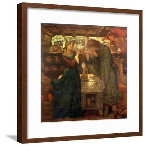 Tristram and Isolde Drinking the Love Potion, 1867-Dante Gabriel Rossetti-Framed Art Print