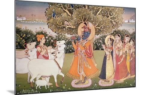 Eighth Incarnation of Vishnu as Krishna: Playing to the Gopis--Mounted Giclee Print