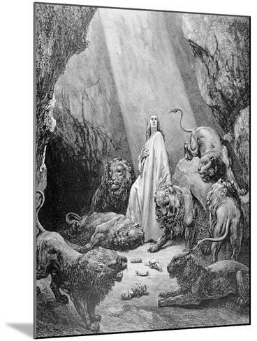 Daniel in the Den of Lions, Engraved by Antoine Alphee Piaud, C.1868-Gustave Dor?-Mounted Giclee Print