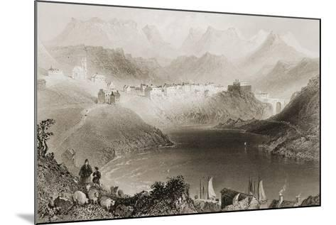 Clifden, Connemara, County Galway, Ireland, from 'scenery and Antiquities of Ireland' by George…-William Henry Bartlett-Mounted Giclee Print