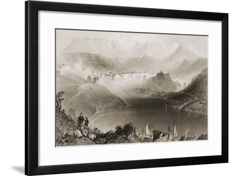 Clifden, Connemara, County Galway, Ireland, from 'scenery and Antiquities of Ireland' by George…-William Henry Bartlett-Framed Art Print