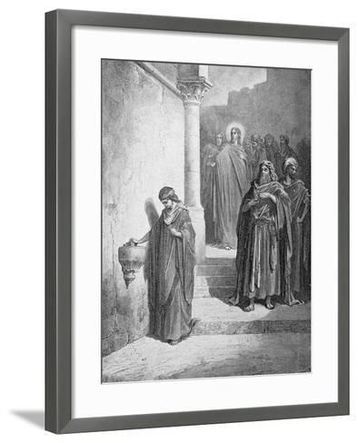 The Widow's Mite, Engraved by L. Dumont, C.1868-Gustave Dor?-Framed Art Print