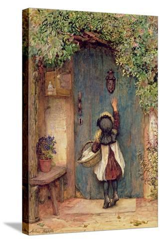The Visitor-Arthur Hopkins-Stretched Canvas Print