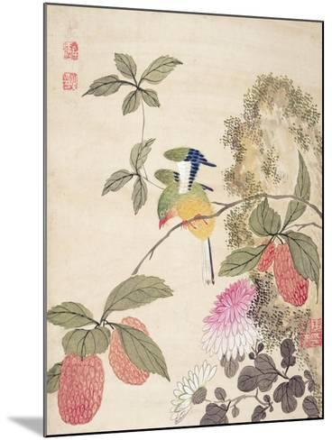 One of a Series of Paintings of Birds and Fruit, Late 19th Century- Wang Guochen-Mounted Giclee Print