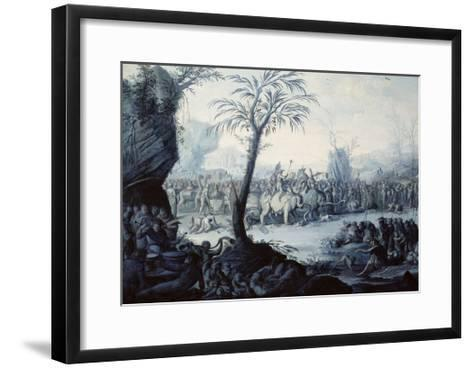 Chinoiserie Landscape with Figures and Animals-Jean Baptiste Pillement-Framed Art Print