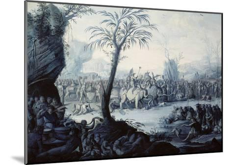 Chinoiserie Landscape with Figures and Animals-Jean Baptiste Pillement-Mounted Giclee Print