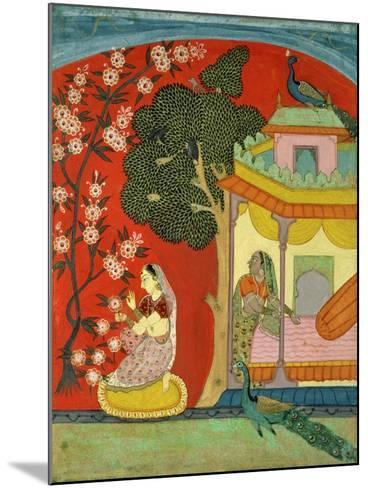 A Lady Plucking Blossoms, Southern Rajasthan or Deccan, C.1675--Mounted Giclee Print