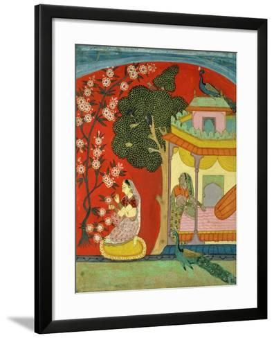 A Lady Plucking Blossoms, Southern Rajasthan or Deccan, C.1675--Framed Art Print