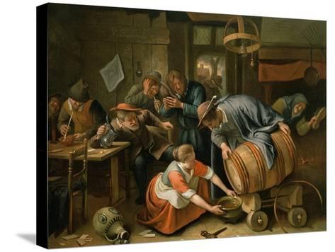 The Last Drop-Jan Havicksz^ Steen-Stretched Canvas Print