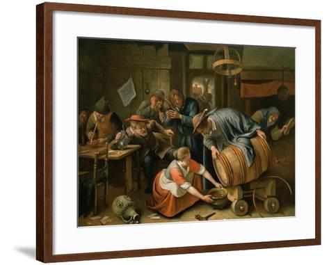 The Last Drop-Jan Havicksz^ Steen-Framed Art Print