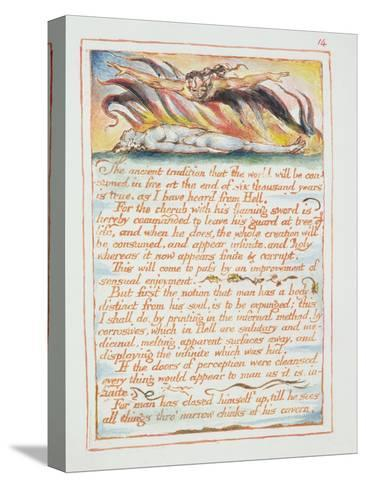 """""""The Ancient Tradition.., Illustration and Text from 'The Marriage of Heaven and Hell"""", C.1790-3-William Blake-Stretched Canvas Print"""