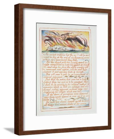 """""""The Ancient Tradition.., Illustration and Text from 'The Marriage of Heaven and Hell"""", C.1790-3-William Blake-Framed Art Print"""