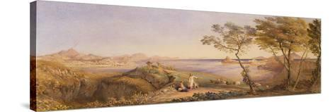The Bay of Baiae from Monte Nuovo-Samuel Palmer-Stretched Canvas Print