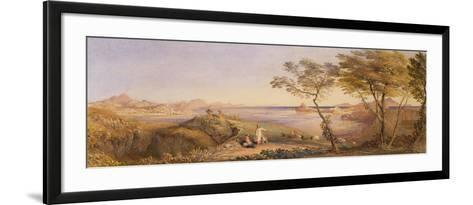 The Bay of Baiae from Monte Nuovo-Samuel Palmer-Framed Art Print